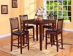 Tall Square Kitchen Table Set Furniture Inspiring Black Pub Table And Chairs Great Photo