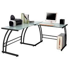 Office desk glass top Contemporary Gamma Corner Office Desk Glass Top Black Metal Frame Lmsofd Pinterest Gamma Corner Office Desk Glass Top Black Metal Frame Dcg Stores