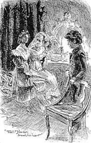 great expectations  miss havisham estella and pip art by h m brock