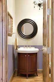 powder room furniture. Bathroom Stunning Small Powder Room Ideas For Your Lovely Home Plus Sinks 2017 Exciting Black Rounded Mirror Over White Single Sink Wooden Two Doors Furniture I