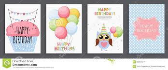 Birthday Card Sample Delectable Happy Birthday Holiday Greeting And Invitation Card Template S