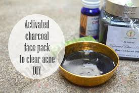 charcoal face pack clear acne