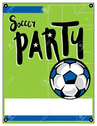 Soccer Party Invite A Blank Soccer Party Theme Invitation Template