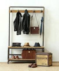 Coat Rack With Bench Seat Simple Authentic Storage Bench And Coat Rack X32 Entryway Bench Seat