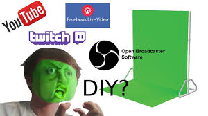 best diy backdrop stand with green screen for you twitch tv facebook live obs streaming 2017