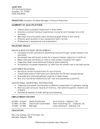 Skills For Resume Examples Sample Executive Summary Resume