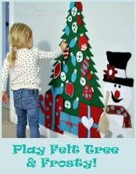 A play felt Christmas tree lets your little ones deck and undeck their  personal tree as many times as they want with no breakage!