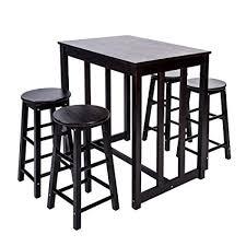 merax 5piece dining table set highpub with 4 bar stools set of bar stools94