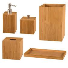 Wooden Bathroom Accessories Set Bamboo Bathroom Set Bathroom