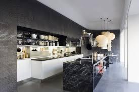 view in gallery black marble kitchen island design