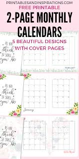 Monthly 2020 Calendar Templates 2020 Monthly Calendar Two Page Spread Free Printable