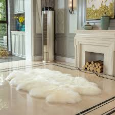 windward 100 sheepskin quad rug ivory