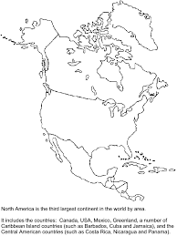 North America Coloring Sheet Northamerica Countries Coloring Pages