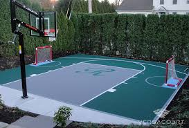 outdoor basketball court hockey rink
