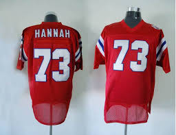 Cheapest Sale John Patriots 73 Red Mitchell With Nfl Ness Shipping Hannah Jersey Throwback Stitched And Free