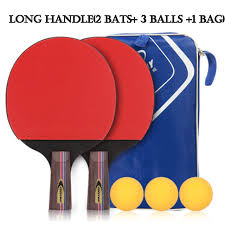 table tennis bats. table tennis racket professional horizontal double grip ping pong case bag ball set bat training competition bats