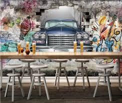 Beibehang Custom Photo Wallpaper Mural Classic Car Hand Painted