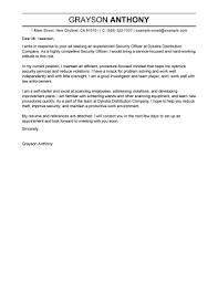 Cover Letter Design Sample Cover Letter For Security Officer Cover