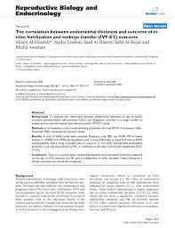 Pdf The Correlation Between Endometrial Thickness And