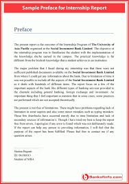 Sample Preface For Internship Report Letter Pinterest Report Awesome Resume Preface