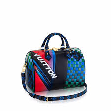 louis vuitton bags 2017. louis vuitton bleu/fuchsia race print speedy bandouliere 30 bag bags 2017
