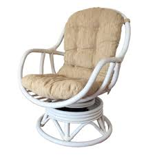 rattan swivel rocking chair erick color white wash with cushion rattan wicker home furniture