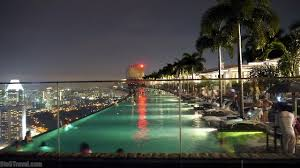 Travel Photo of the Day Marina Bay Sands Infinity Pool at Night