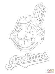 Small Picture Clevelend Indians Logo coloring page Free Printable Coloring Pages
