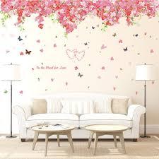 cherry blossom para sakura plant flower wall sticker diy decorative kids room wall decal ws31 reo lk