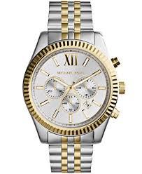 michael kors men s chronograph lexington two tone stainless steel michael kors men s chronograph lexington two tone stainless steel watch 45mm mk8344