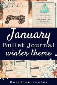 January Winter Theme Bullet Journal Set-up