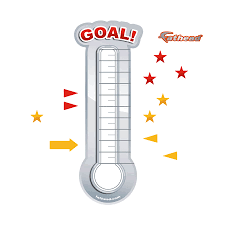 Dry Erase Goal Thermometer X Large Removable Wall Graphic