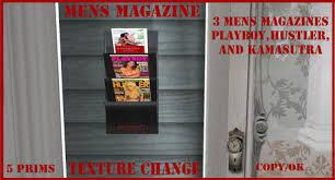 Playboy Magazine Holder Second Life Marketplace mens magazine rack with kamasutra 5
