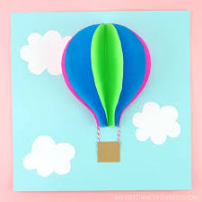 Hot air balloons are perfect for images. Paper Hot Air Balloon Easy Colorful Summer Kids Craft I Heart Crafty Things