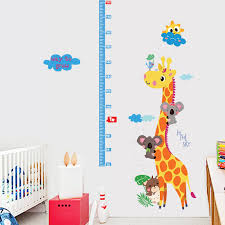 new heights furniture. fundecor new cute giraffe height sticker animal decals children wall stickers for kids rooms decoration mural heights furniture h