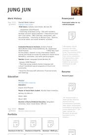 Social Work Intern Resume Samples Visualcv Resume Samples Database