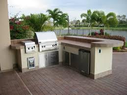 Outdoor Kitchen Countertops Interesting Gold Granite Outdoor Kitchen Countertop Stainless