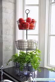 kitchen tiered stand fruit