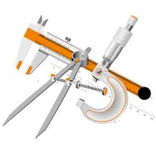 drawing tools. Surveyor Calipers Micrometer Tool - Cartoon Drawing Tools