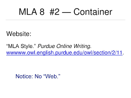 Modern Language Association 8th Edition Professional Style Ppt