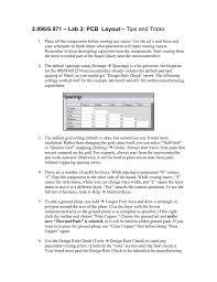 Menu Board Design Tips 2 996 6 971 Lab 3 Pcb Layout