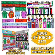 Reusable Reward Charts For Toddlers Amazon Com Gel Cling Reward Chart For Toddlers And Kids