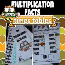 Multiplication Facts Times Tables Charts