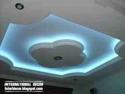 gypsum ceilings designs with blue