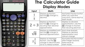 changing calculator display modes math vs line mode casio calculator fx 83gt you