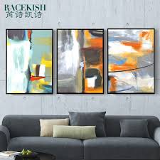 american retro living room decorative painting abstract art paintings abstract painting triptych paintings company hotel clubs in on