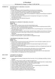 Product Analyst Resume Sample Product Strategy Analyst Resume Samples Velvet Jobs 5