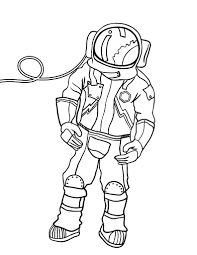Small Picture Free Astronaut Coloring Page