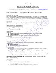Personal Banker Resume 21 Cover Letter Of Bank Objective For Po 16