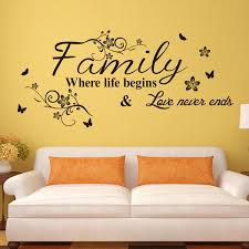 Small Picture Word Family living room sofa wall decals home decoration wallpaper